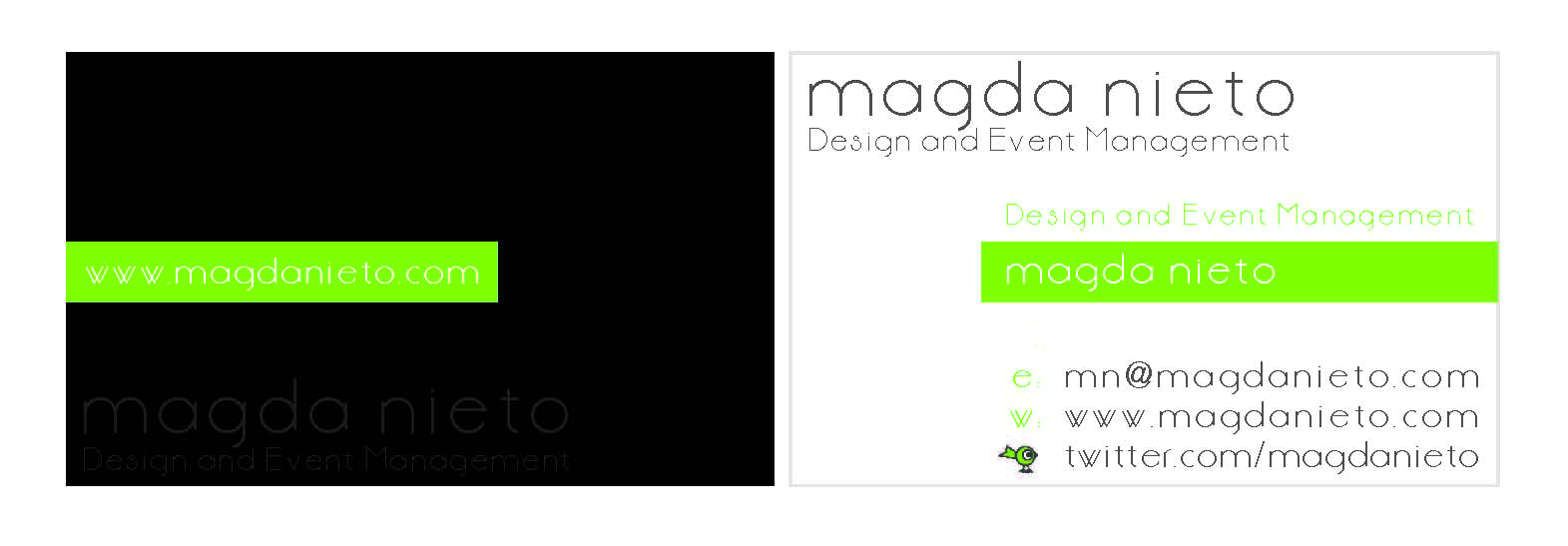 NEW BUSINESS CARD – MAGDA NIETO | Magda Nieto
