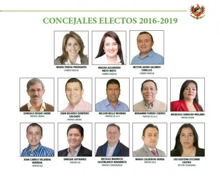 Concejales Electos 2016 2019